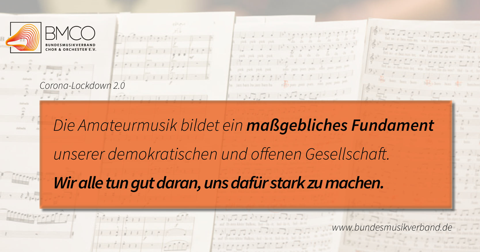 Facebook Post – Bundesmusikverband Chor & Orchester e.V.