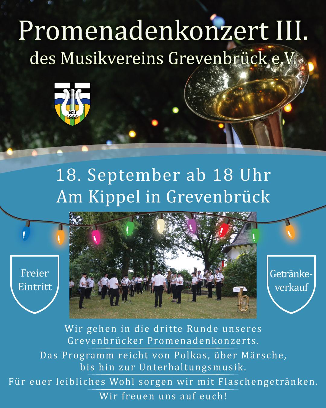 Read more about the article Promenadenkonzert III. am Kippel in Grevenbrück
