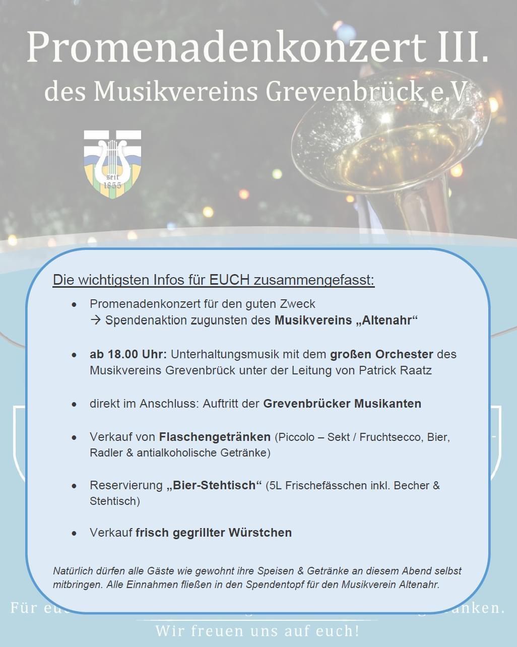 Read more about the article Infos zum Promenadenkonzert